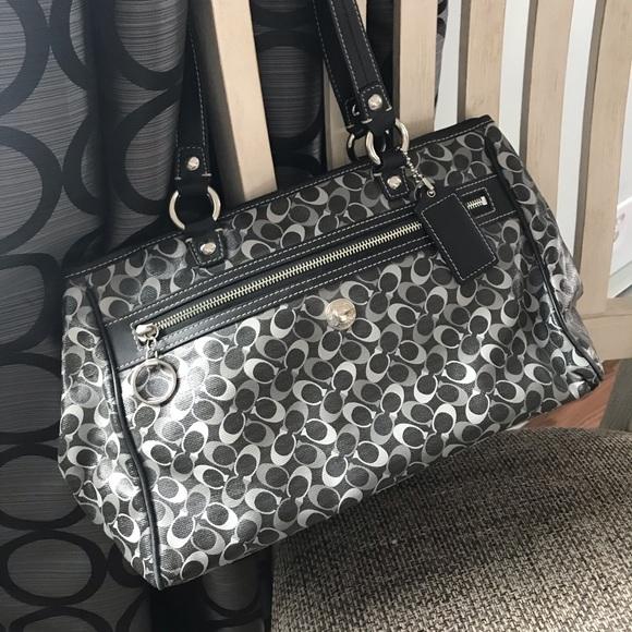 Coach Handbags - Black and Gray COACH Bag